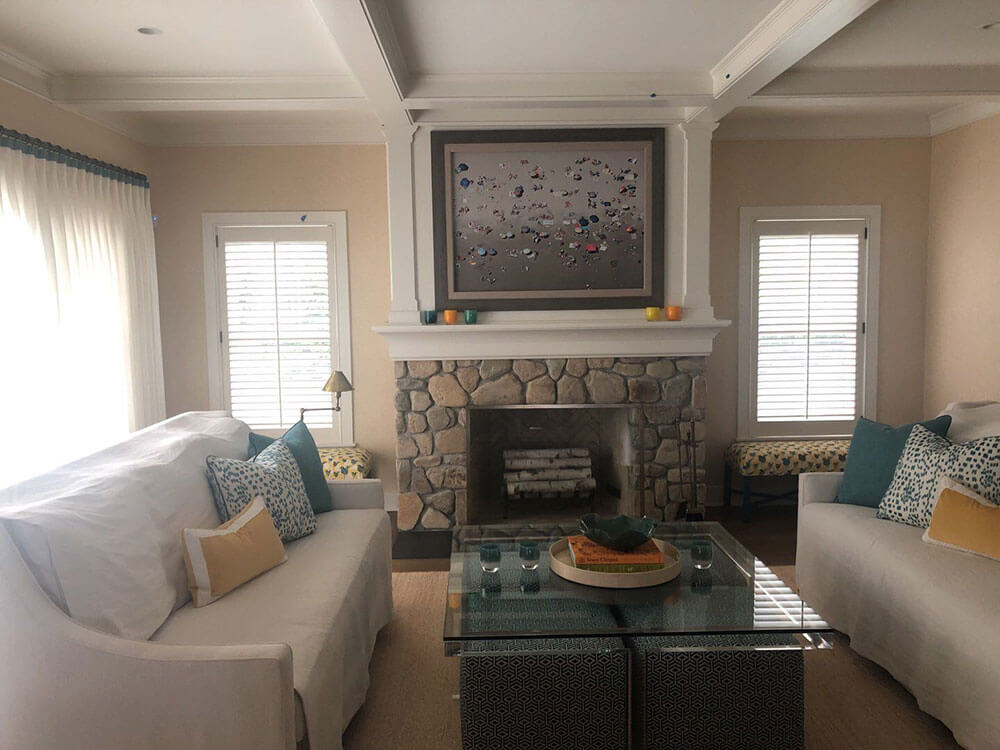 ELCO Painting residential interior living room painting services