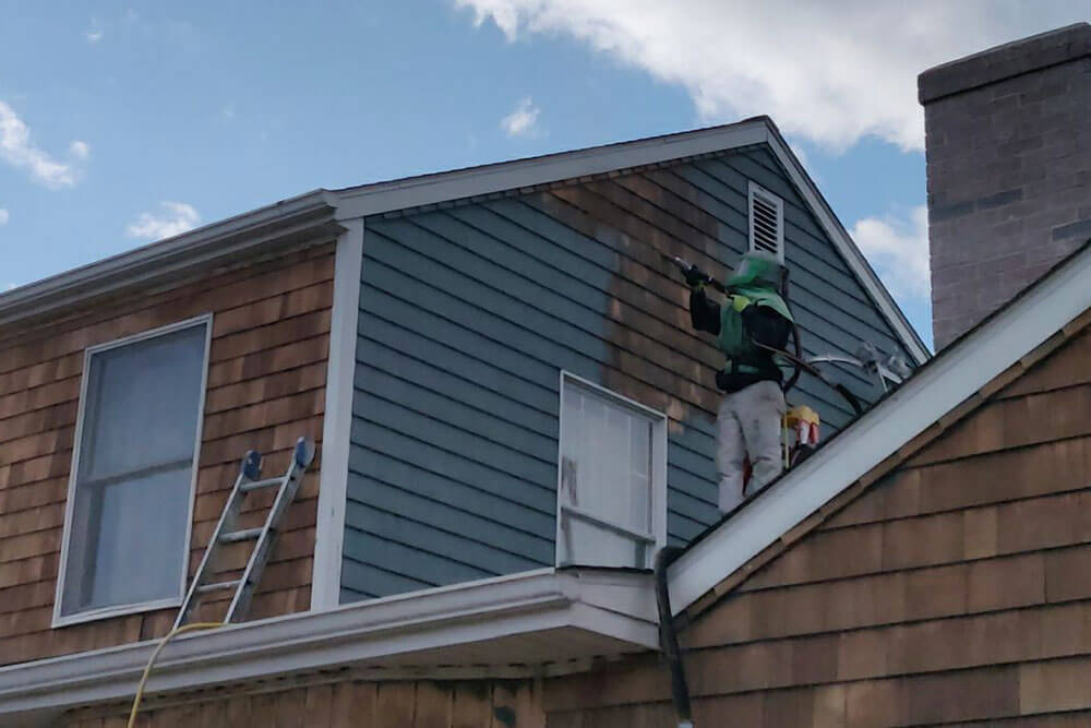 ELCO Painting residential exterior power washing services
