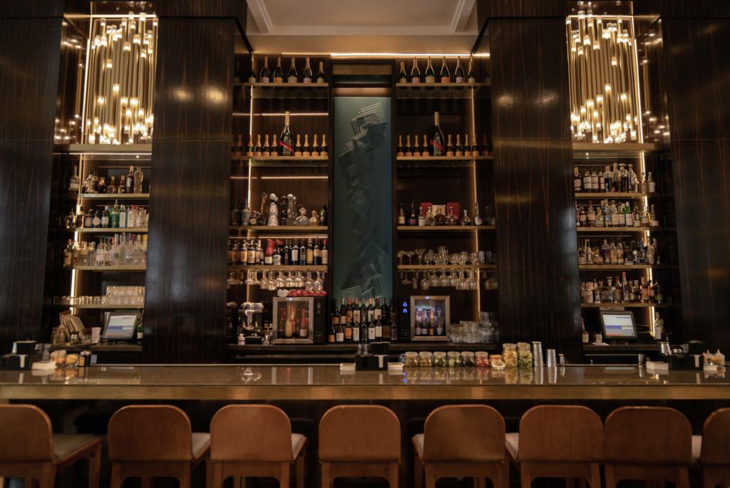 Modern looking bar