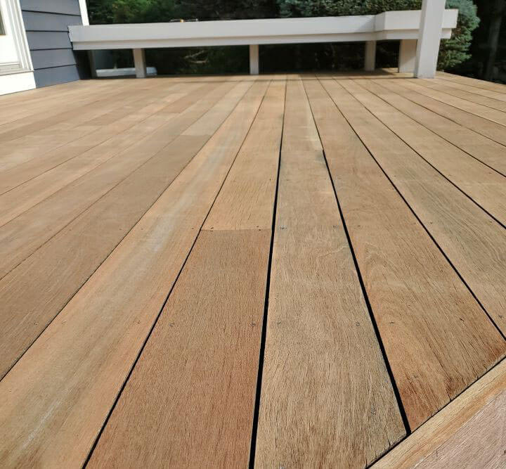 Residential Rhode Island deck after ELCO Painting deck maintenance