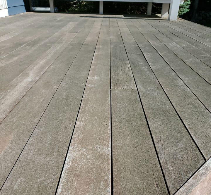 Residential Rhode Island deck before ELCO Painting deck maintenance