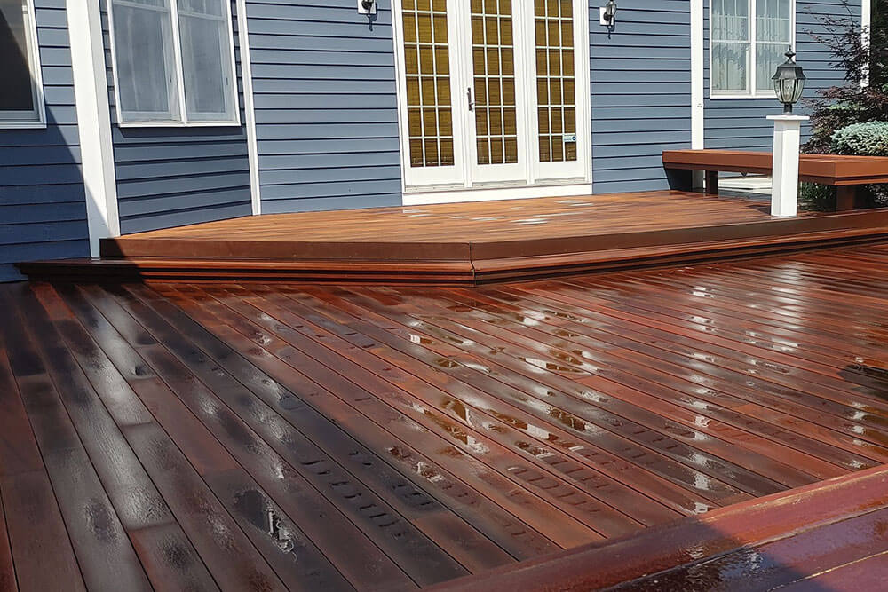 Residential deck after ELCO Painting deck staining
