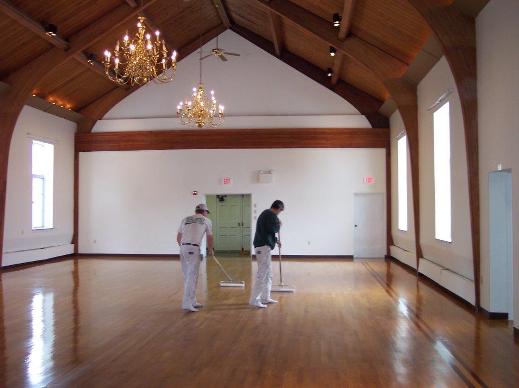 ELCO Painting interior church flooring